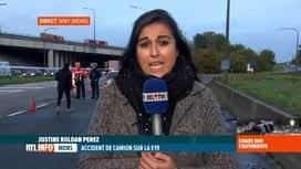 RTL INFO 19H : Accident à Nimy: l'autoroute E19 est encore fermée