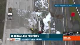 RTL INFO 19H : Important accident de camion sur l'E19 à Nimy