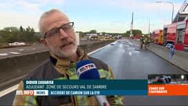 RTL INFO 19H : Accident à Nimy: pas de risque toxique pour la population