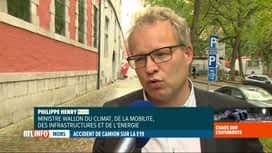 RTL INFO 19H : Mobilité: Philippe Henry se dit conscient de la saturation du réseau