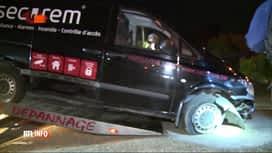 RTL INFO 13H : Une course-poursuite s'achève par un accident à Charleroi