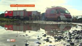 RTL INFO 13H : L'incendie d'un compost à Strépy-Bracquegnies est enfin maitrisé