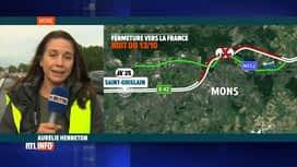 RTL INFO 19H : L'E19 fermée à Nimy durant la nuit suite à l'accident de camion