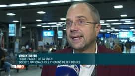 RTL INFO 13H : Pas de chaos sur le rail malgré les travaux sur la liaison nord-midi