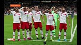 RTL INFO 19H : Les footballeurs turcs font le salut militaire contre la  France