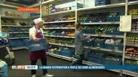 RTL INFO 19H : Les dons alimentaires ont triplé en Belgique depuis 2015
