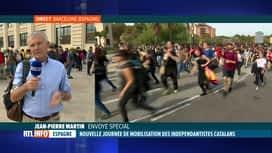 RTL INFO 13H : On craint de nouvelles violences lors de la manifestation à Barcelone