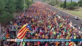 RTL INFO 19H : Journée de grève générale et de manifestations en Catalogne