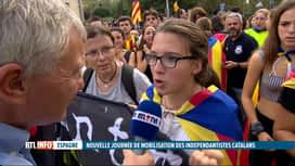 RTL INFO 19H : Catalogne: les indépendantistes sont plus déterminés que jamais