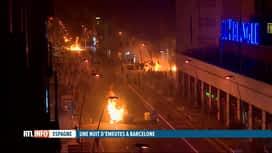 RTL INFO 13H : De nouvelles violences ont éclaté cette nuit à Barcelone