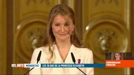 RTL INFO 13H : 18 ans d'Elisabeth: extrait du discours prononcé par la princesse