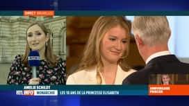 RTL INFO 13H : 18 ans d'Elisabeth: grande complicité entre le roi Philippe et sa f...