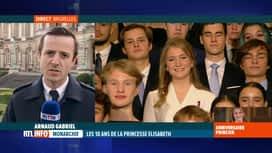 RTL INFO 13H : 18 ans d'Elisabeth: 80 jeunes étaient invités à la cérémonie