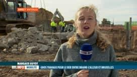 RTL INFO 13H : Le point sur le trafic ferroviaire suite aux 2 chantiers du RER