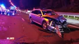 RTL INFO 13H : Gosselies: collision entre plusieurs véhicules hier soir sur l'E42