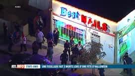 RTL INFO 13H : Une fusillade lors d'une fête d'Halloween à Los Angeles fait 3 morts