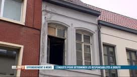 RTL INFO 13H : Effondrement dans une maison à Mons : l'enquête a débuté