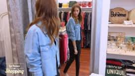 Les Reines du Shopping : Féminine avec une veste en jean : journée 2