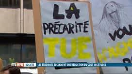 RTL INFO 13H : Manifestation pour dénoncer la précarité étudiante dans le supérieur