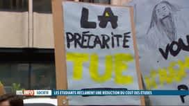 RTL INFO 19H : Manifestation pour dénoncer la précarité étudiante dans le supérieur