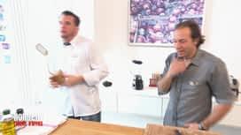 Norbert commis d'office : Philippe Candeloro : abus de gras / Thomas : trafic de quiche