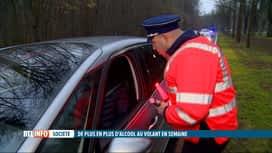 RTL INFO 19H : Hausse du nombre de conducteurs positifs les nuits de semaine