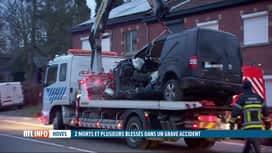 RTL INFO 13H : Deux morts et plusieurs blessés dans un accident à Hoves