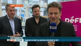 RTL INFO 13H : François De Smet succède à Olivier Maingain à la présidence de DéFI