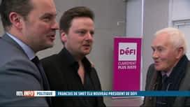 RTL INFO 19H : François De Smet succède à Olivier Maingain à la présidence de DéFI