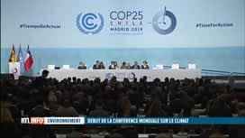 RTL INFO 13H : La COP25 s'ouvre aujourd'hui à Madrid, en Espagne