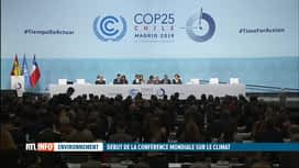 RTL INFO 19H : La COP25 s'est ouverte aujourd'hui à Madrid