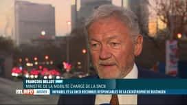 RTL INFO 19H : Catastrophe de Buizingen: réaction du ministre Bellot au verdict