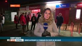 RTL INFO 19H : Standard-Rebecq: les supporters sont en train d'arriver à Sclessin