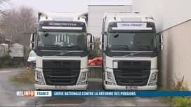 RTL INFO 13H : Grève en France: l'impact est grand sur le transport routier belge