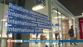 RTL INFO 13H : Grève en France: le trafic des TGV Thalys fortement perturbé