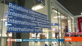 RTL INFO 19H : Grève en France: le trafic des TGV Thalys fortement perturbé