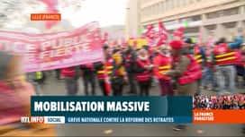 RTL INFO 19H : Grève en France: des milliers de manifestants ont défilé à Lille
