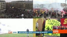 RTL INFO 19H : Grève en France: certaines manifestations ont dégénéré