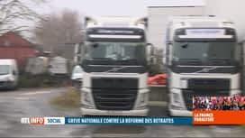 RTL INFO 19H : Grève en France: l'impact est grand sur le transport routier belge