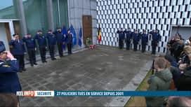 RTL INFO 19H : La police fédérale a rendu hommage aux policiers décédés en service