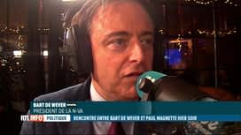 RTL INFO 13H : Bart De Wever a rencontré Paul Magnette hier soir à Anvers