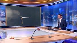 RTL INFO 19H : Production record d'électricité par les éoliennes installées chez nous