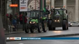 RTL INFO 19H : Journée mondiale du climat: des agriculteurs mobilisés à Bruxelles