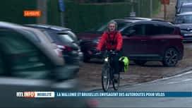 RTL INFO 19H : Projet de construire 5 autoroutes à vélos en Wallonie et à Bruxelles