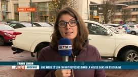 RTL INFO 13H : Andenne : une mère et son fils tombent dans la Meuse