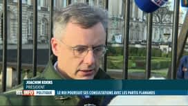 RTL INFO 13H : Le Roi Philippe a repris ses consultations ce matin