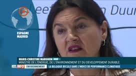 RTL INFO 19H : Selon la Ministre Marghem, la Belgique a fait beaucoup pour le climat
