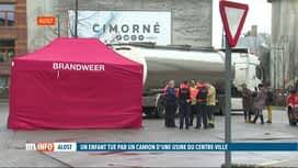 RTL INFO 19H : Alost: un garçon de 11 ans décède après avoir été heurté par un camion