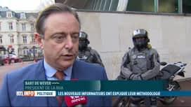 """RTL INFO 19H : De Wever craint que la coalition """"Arc-en-ciel"""" ne soit pas écartée"""