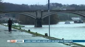 RTL INFO 19H : Andenne: la dame tombée avec son fils dans la Meuse est malvoyante